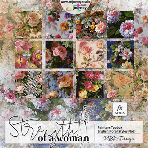 Strength of a Woman {Painters-Toolbox: Styles Old English Floral 2}