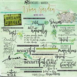 Urban Garden {Word Arts}