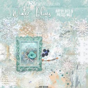 Winter Blues {Artsy Bits & Pieces No1}