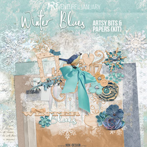 Winter Blues {Artsy Bits & Papers - Kit}