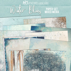 Winter Blues {Paperset: Mixed Media}