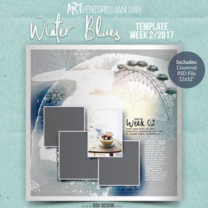 Winter Blues {Template 02/2017}
