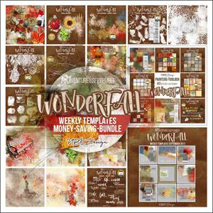 WonderFall {Megabundle Weekly Templates September 2017}