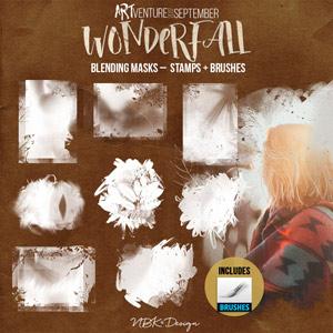 WonderFall {Blending Masks – Brushes & Stamps}