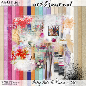 art & journal {Artsy Bits & Papers Kit}