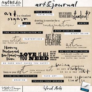 art & journal {Word Arts}