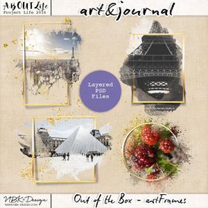 art & journal {Out of the Box - art frames)