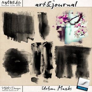 art & journal {Urban Masks}