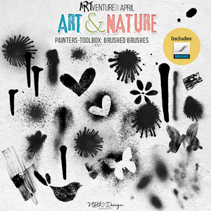 Art & Nature {Painters-Toolbox: Brushed Brushes}