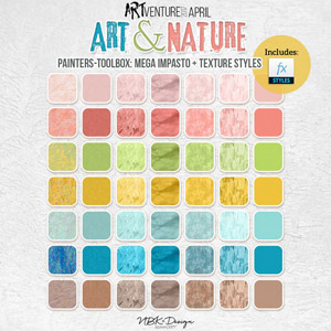 Art & Nature {Painters-Toolbox: Impasto and Texture Styles}