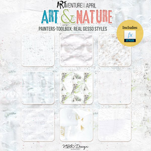 Art & Nature {Painters-Toolbox: Real Gesso Styles}