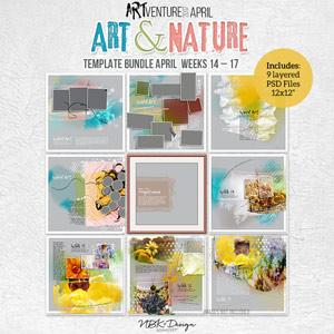 Art & Nature {Template Bundle March 2017   Weeks 14 - 17}