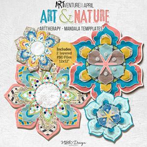 Art & Nature {Art Therapy - Mandalas}