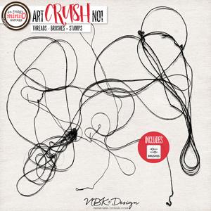 artCRUSH No1 {Threads - Stamps + Brushes}