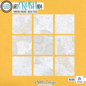 artCRUSH No4 {Painters-Toolbox: Doilie-Styles}