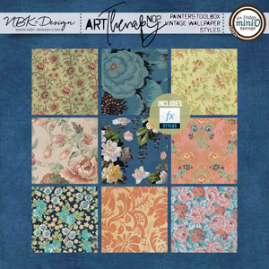 artTherapy No2 {Painters-Toolbox: Vintage Wallpaper Styles}