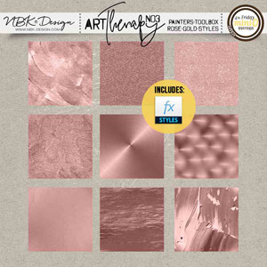 artTherapy No3 {Painters-Toolbox: Rose-Gold Styles}