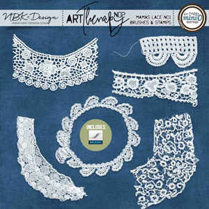 artTherapy No2 {Mamas Lace No1 – Brushes + Stamps}
