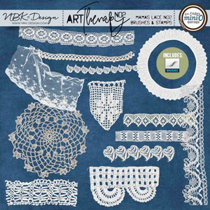artTherapy No2 {Mamas Lace No2 – Brushes + Stamps}