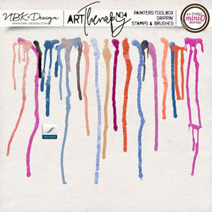 artTherapy No4 {Painters-Toolbox: Drippin – Brushes & Stamps}