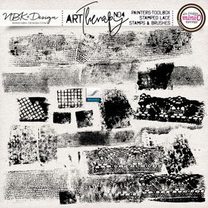 artTherapy No4 {Painters-Toolbox: Stamped lace – Brushes & Stamps}