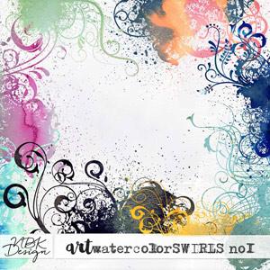 WatercolorSwirls No1