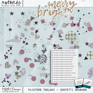 Be Merry Be Bright {Painters-Toolbox: Confettis}