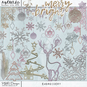 Be Merry Be Bright {Embroidery Elements}