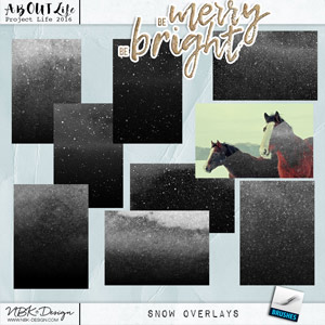 Be Merry Be Bright {Snow Overlays}