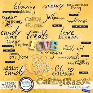 Candy Crush {WordArts}