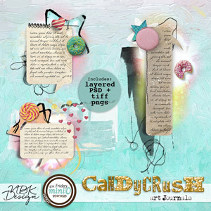 Candy Crush {Layered artJournals}