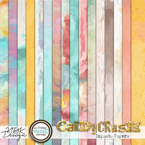 Candy Crush {Impasto Papers}