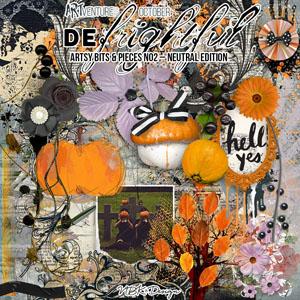 deFrightful {Artsy Bits & Pieces - Neutral Edition}