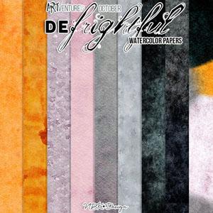 deFrightful {Paper-Set: Solids Watercolor}