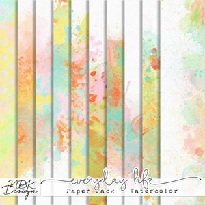 Everyday Life {Paper Pack - Watercolor}