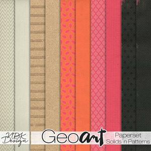 GeoArt {Solids N Pattern Papers}