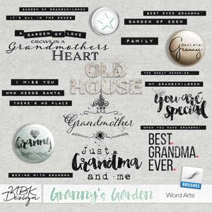 Granny's Garden {Word Arts}