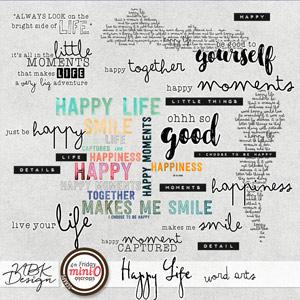 Happy Life {Word Arts}