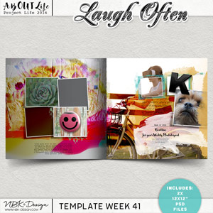 Laugh Often {Template 41/2016}