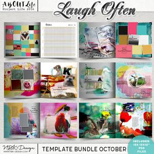 Laugh Often {Template Bundle October 2016 | Weeks 39 – 43}
