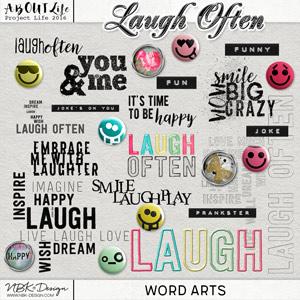 Laugh Often {Word Arts}