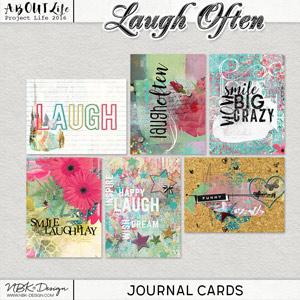 Laugh Often {Journal-Cards}