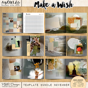 Make a Wish {Template Bundle November 2016 | Weeks 44 – 48}