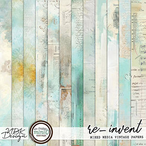 re-invent {Mixed Media Papers}