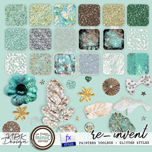 re-invent {Painterstoolbox – Glitter Styles}