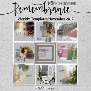 Remembrance {Template Bundle November 2017 | Weeks 45 - 48}