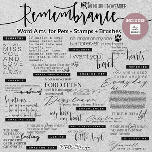 Remembrance {Word Arts – Brushes & Stamps}