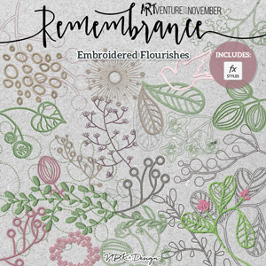 Remembrance {Embroidered Flourishes}