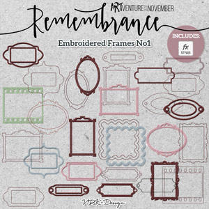 Remembrance {Embroidered Frames}