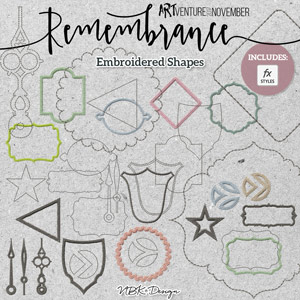 Remembrance {Embroidered Shapes}